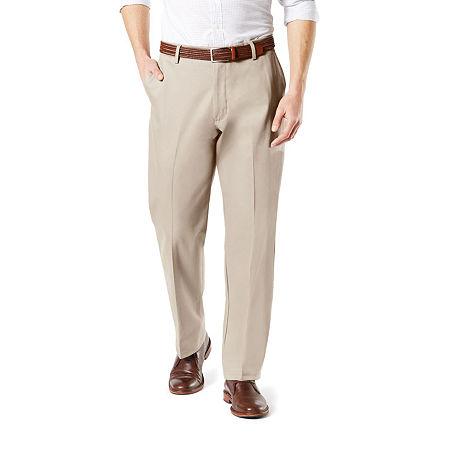 Dockers Men's Classic Fit Signature Khaki Lux Cotton Stretch Pants D3, 36 29, Beige