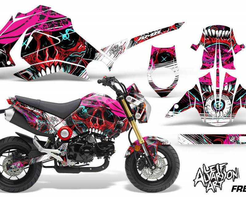 AMR Racing Motorcycle Graphics Kit Decal Sticker Wrap For Honda GROM 125 2013-2016áFRENZY RED