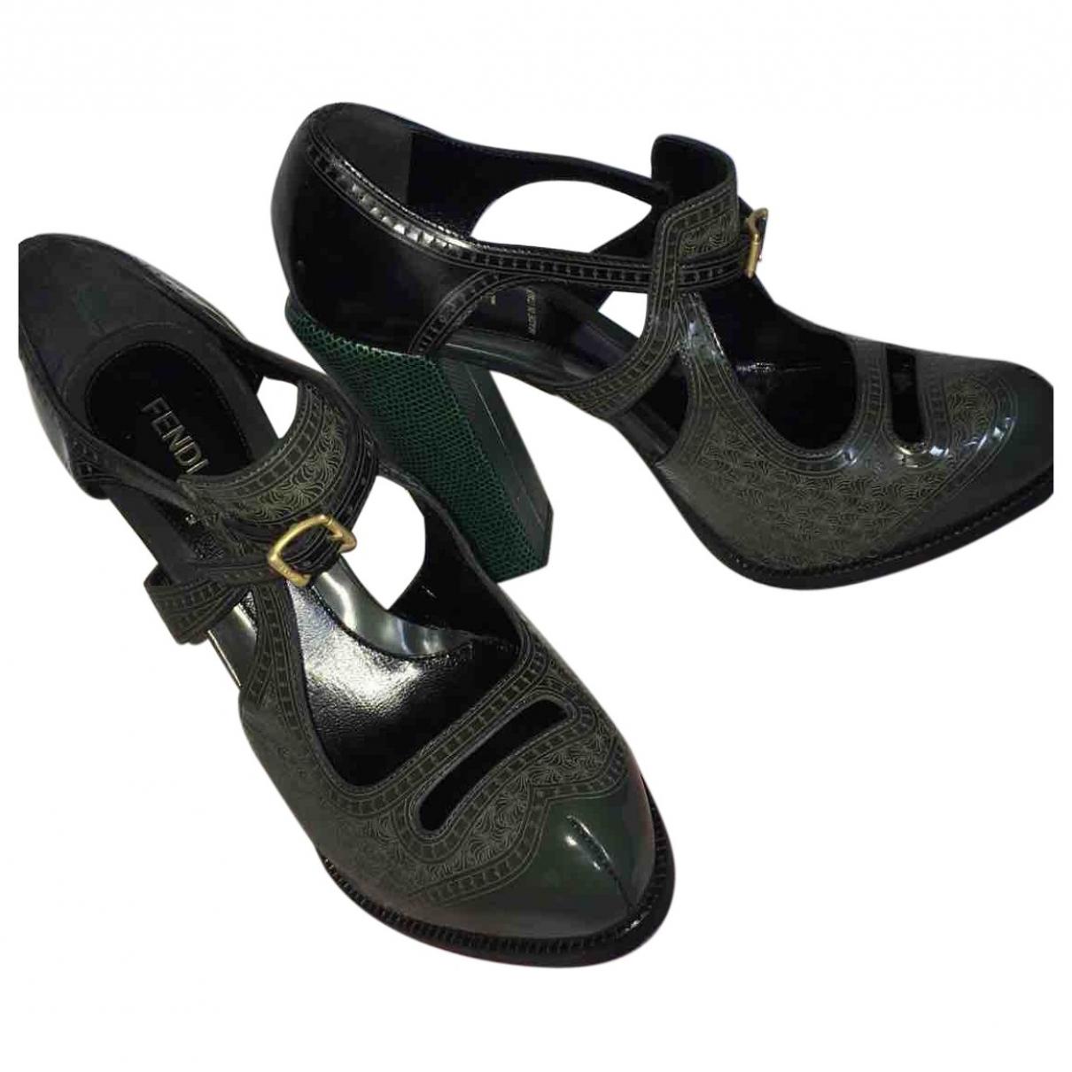 Fendi \N Leather Heels for Women 38 EU