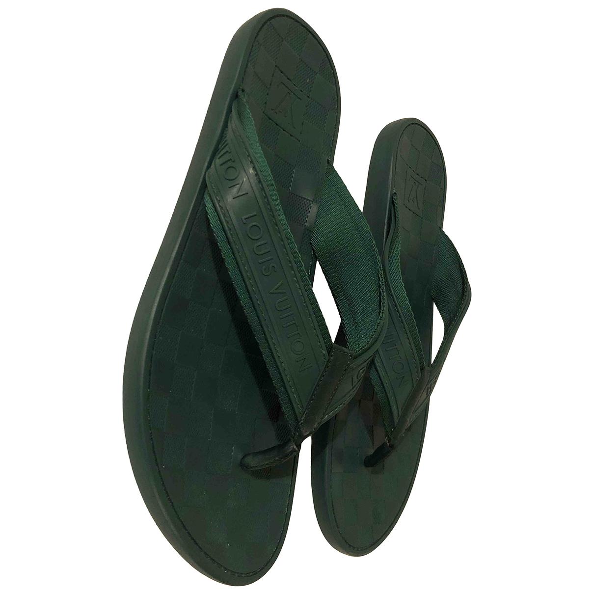 Louis Vuitton - Sandales   pour homme en caoutchouc - vert