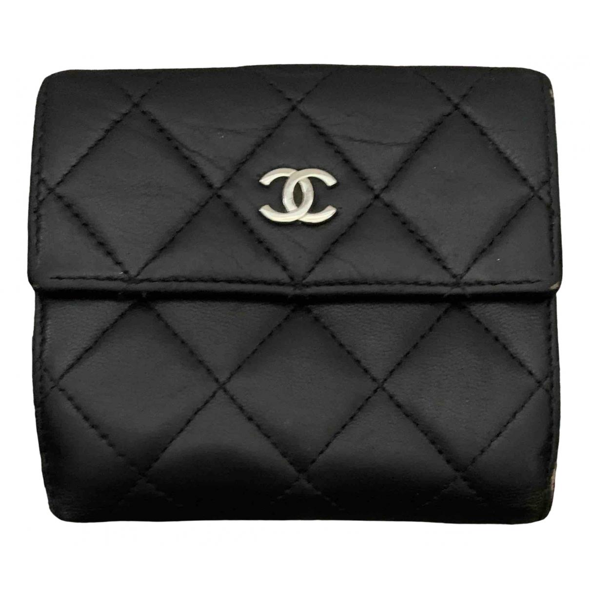 Chanel Timeless/Classique Kleinlederwaren in  Schwarz Leder