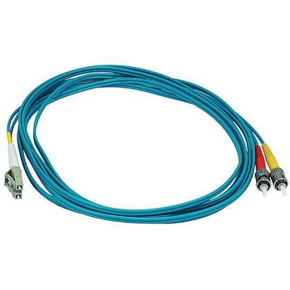 10Gb Fiber Optic Cable, LC/ST, Multi Mode, Duplex (50/125 Type) - Aqua - Monoprice® - 3m