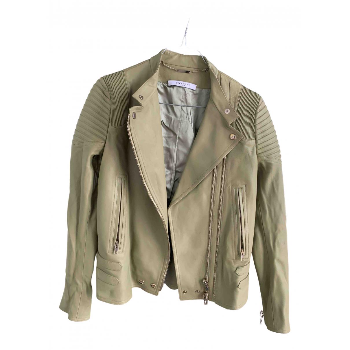 Givenchy \N Jacke in  Beige Leder