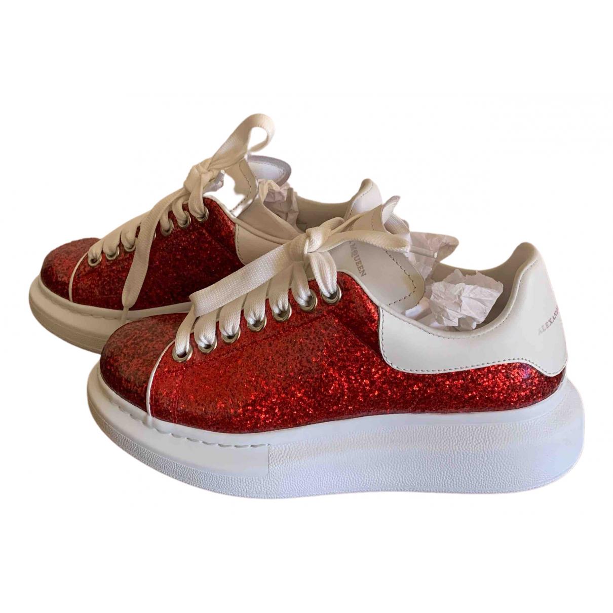 Alexander Mcqueen - Baskets Oversize pour femme en a paillettes - rouge
