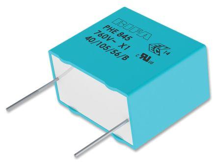 KEMET 100nF Polypropylene Capacitor PP 1.5 kV dc, 760 V ac ±20% Tolerance Through Hole PHE845 Series (4)