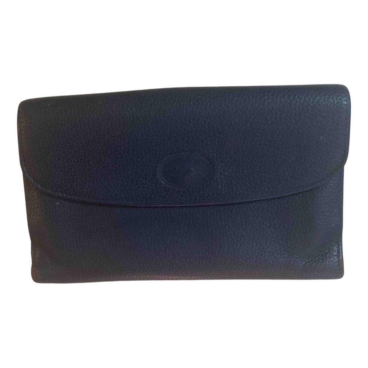 Longchamp \N Navy Leather wallet for Women \N