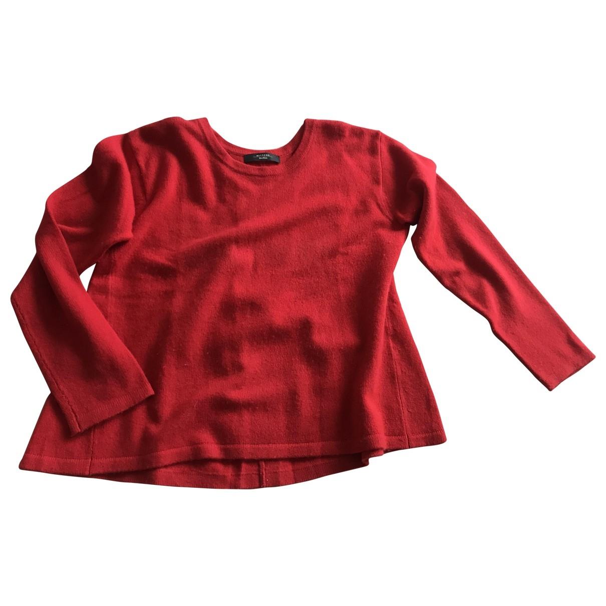 Max Mara Weekend \N Red Cashmere Knitwear for Women 44 IT