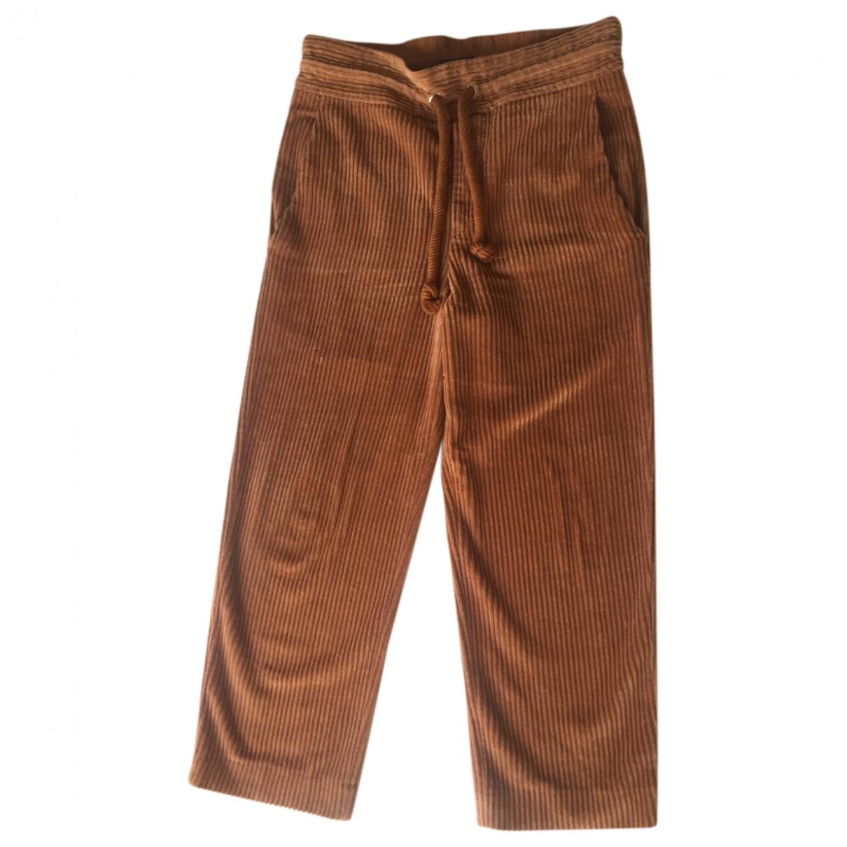 Isabel Marant \N Brown Velvet Trousers for Women 36 FR