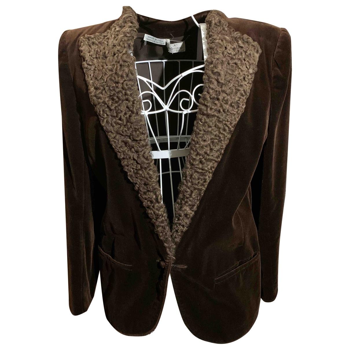 Valentino Garavani \N Brown Velvet jacket for Women 10 UK