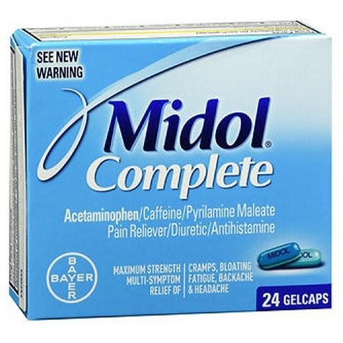 Bayer Midol Maximum Strength Gelcaps Menstrual 24 each by Bayer