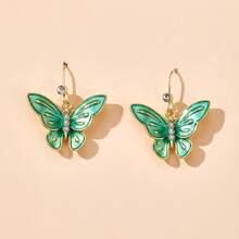 Ohrringe mit Schmetterling Anhaenger