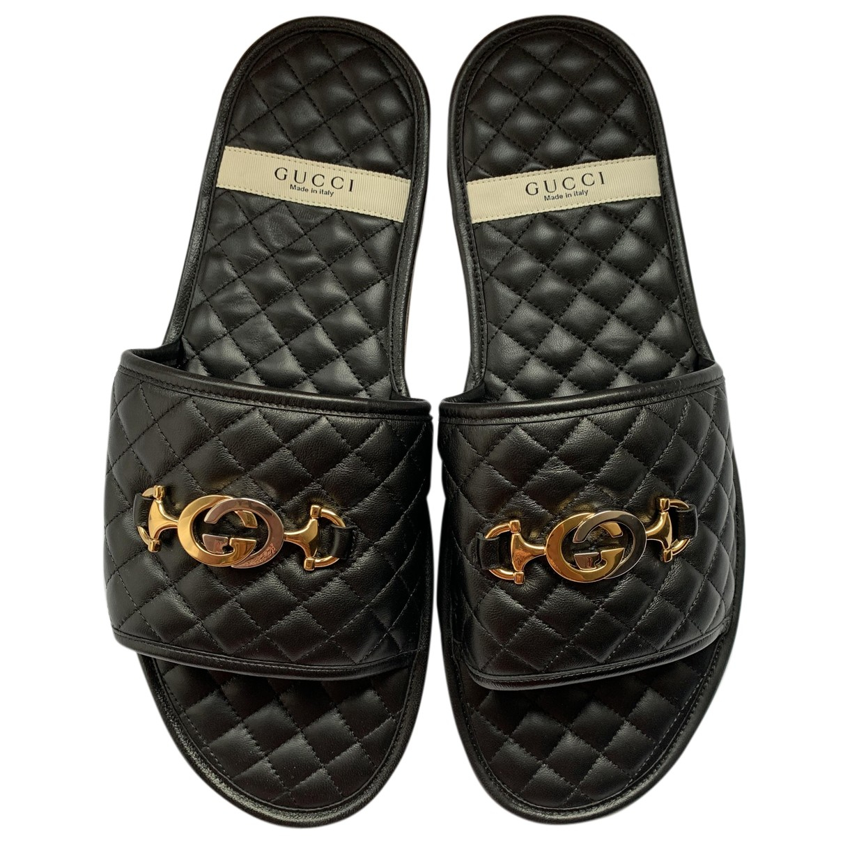 Gucci \N Clogs in  Schwarz Leder