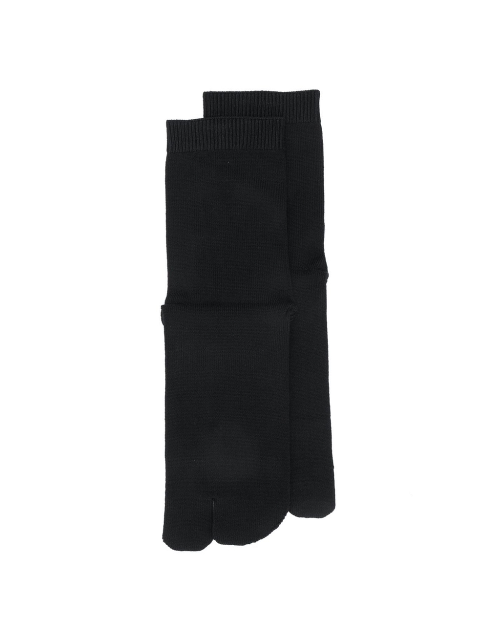 Maison Margiela Black Cotton Tabi Socks