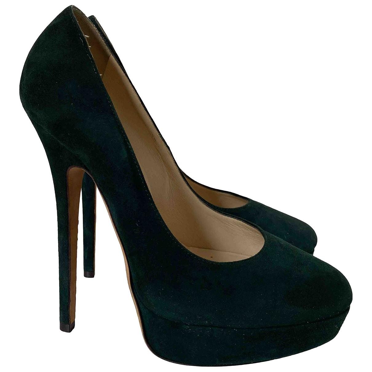 Jimmy Choo \N Green Suede Heels for Women 39 IT