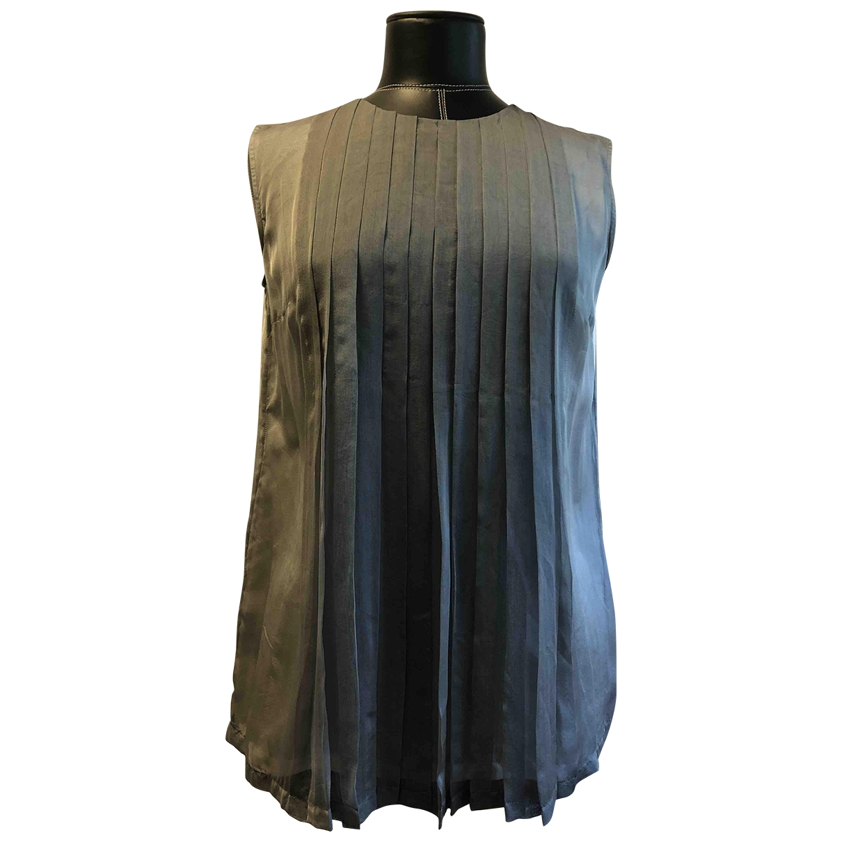 Jil Sander \N Grey Silk  top for Women 38 FR