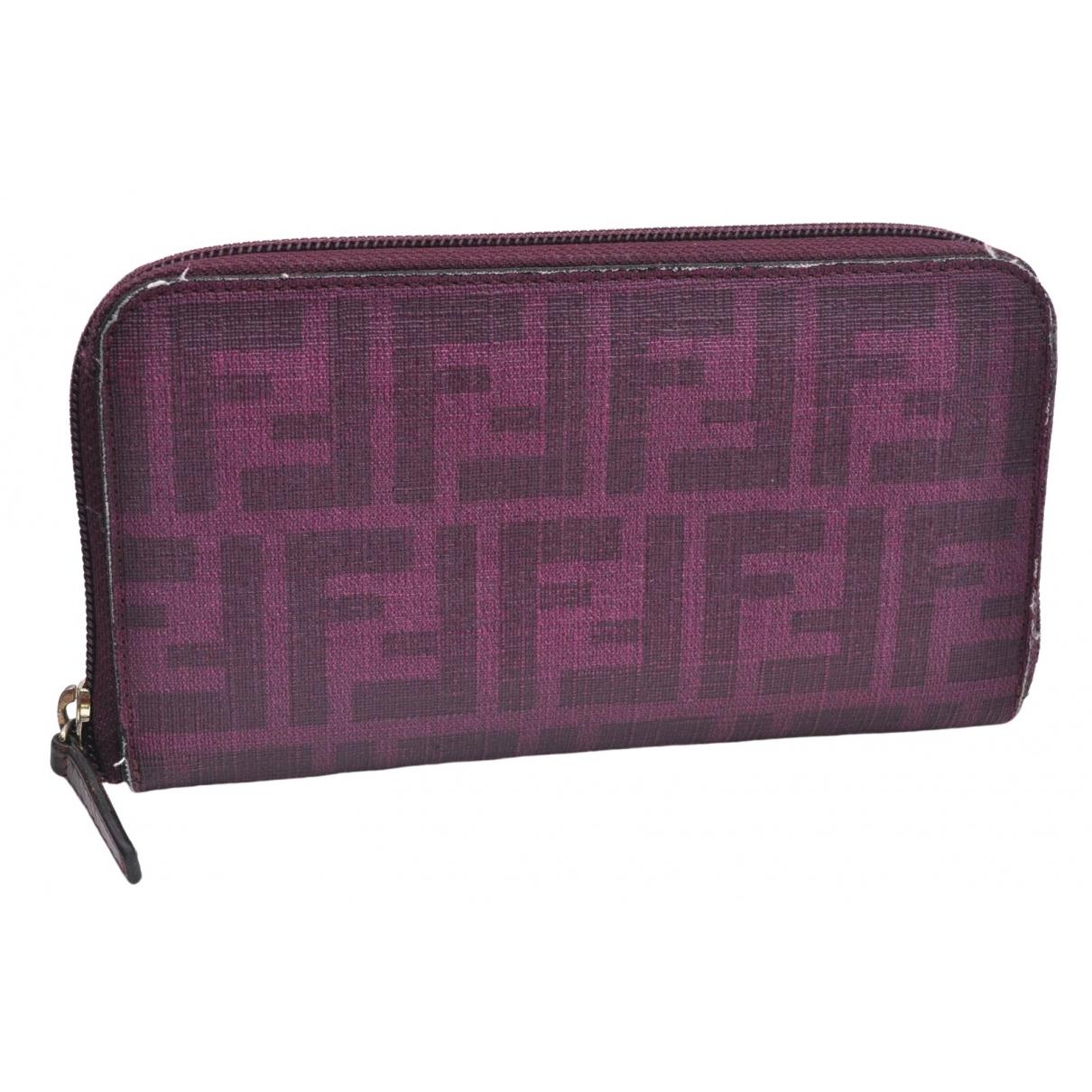 Fendi - Portefeuille   pour femme en cuir - violet