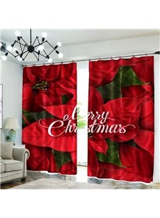 3D Fantastic Flowers Print Blackout Curtains Christmas Decor Backdrop
