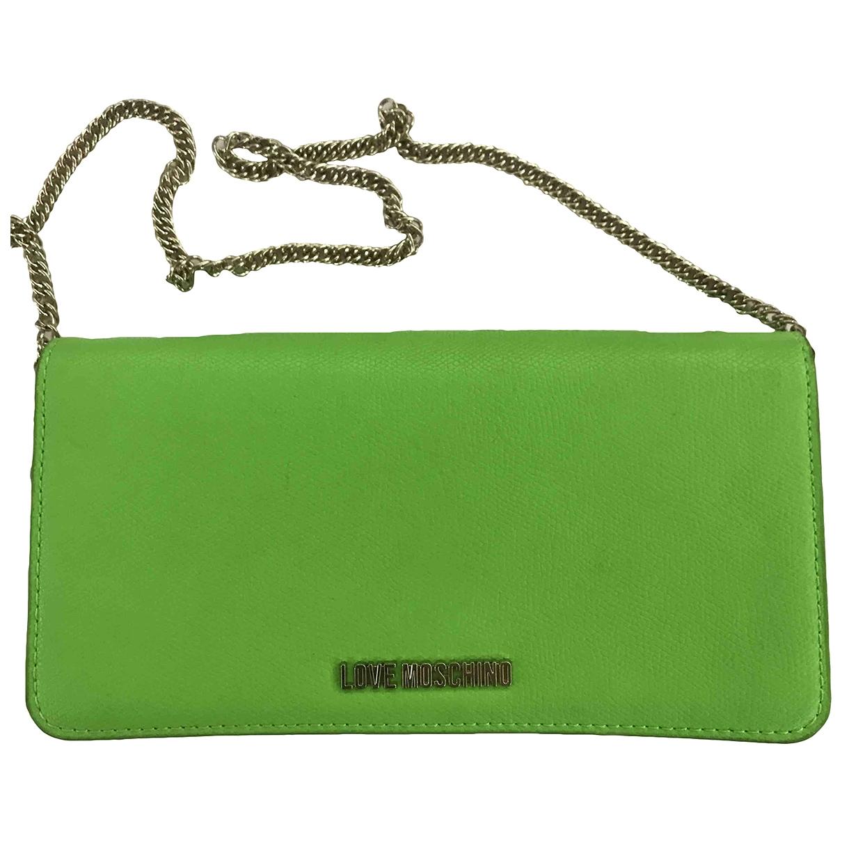 Moschino Love - Portefeuille   pour femme en cuir - vert
