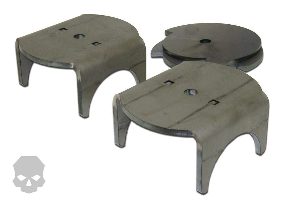Coil Plate Mounts With Retainers 2.5 Inch For Use With 5.5 Inch Wide Jeep TJ Springs Ballistic Fabrication BRK-1038-1