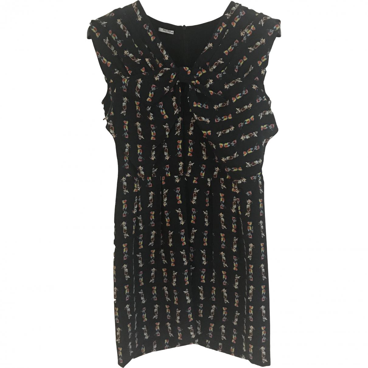 Miu Miu \N Black Silk dress for Women 40 IT