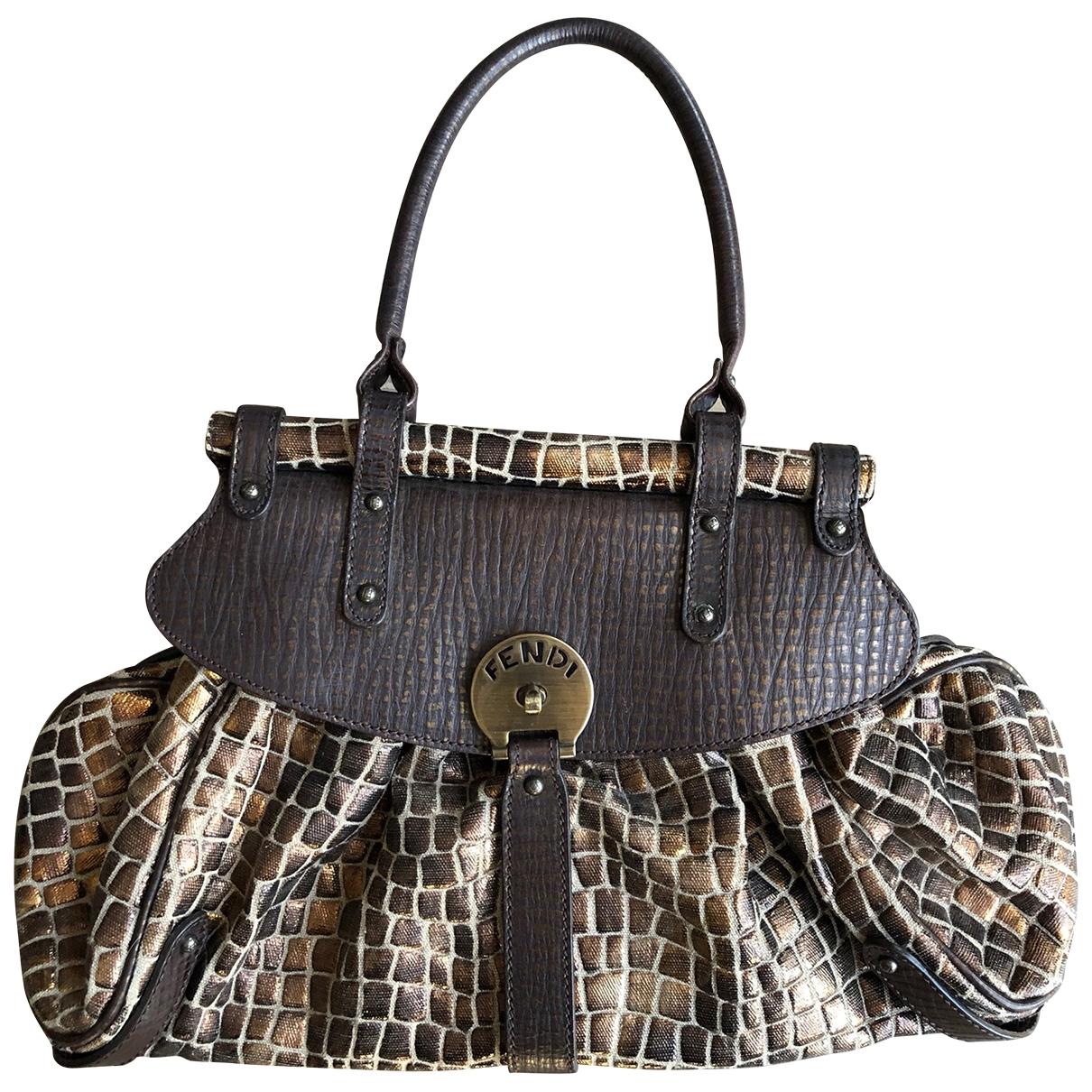 Fendi \N Handtasche in  Braun Baumwolle