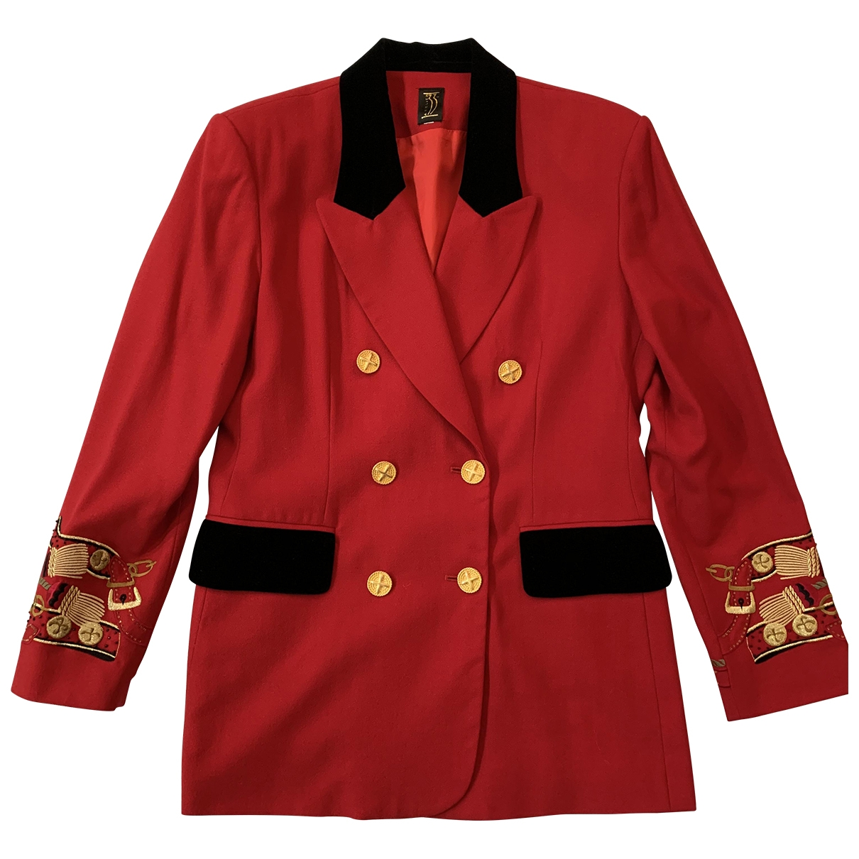 Non Signé / Unsigned \N Red Wool jacket for Women 42 FR