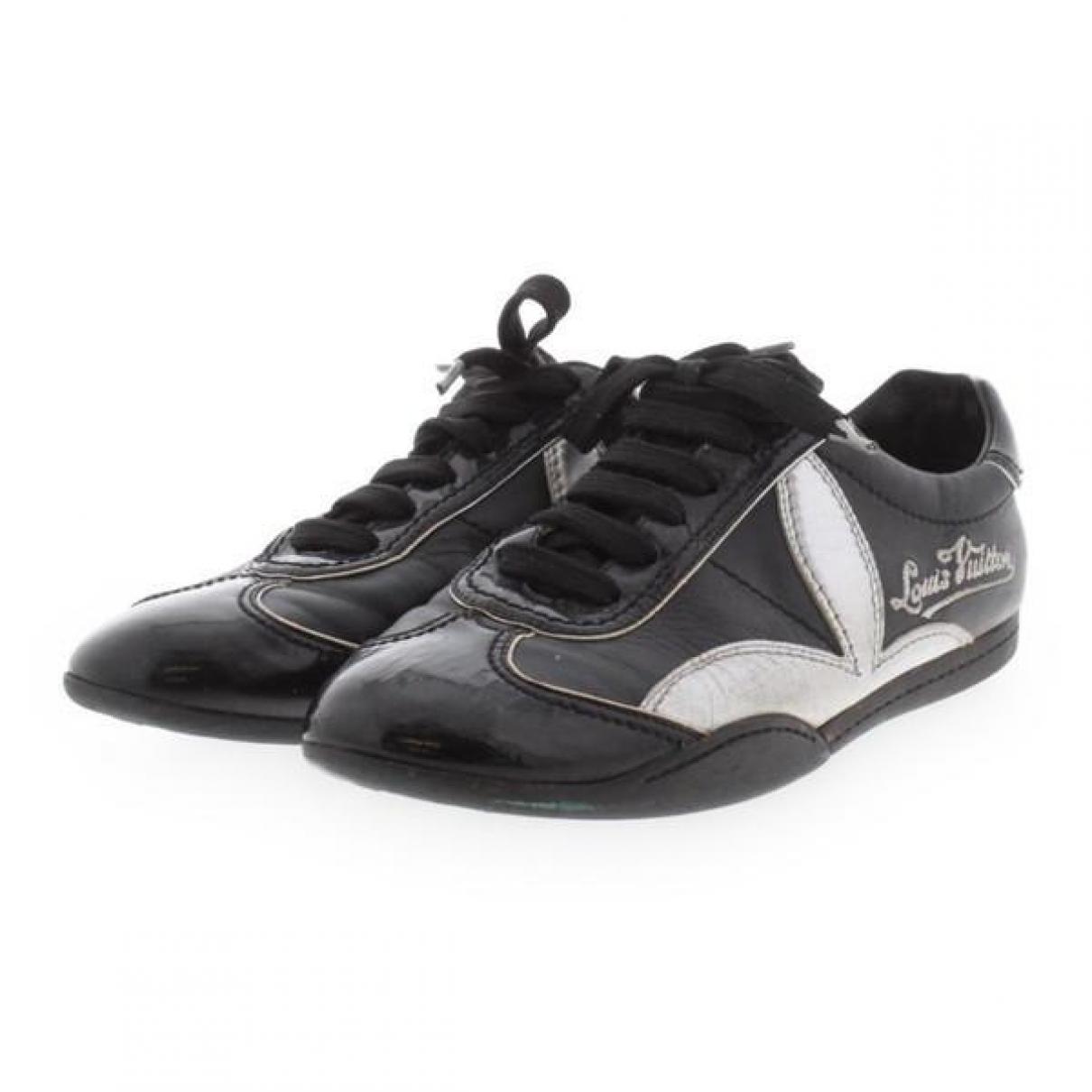 Louis Vuitton - Baskets   pour femme en cuir verni - noir