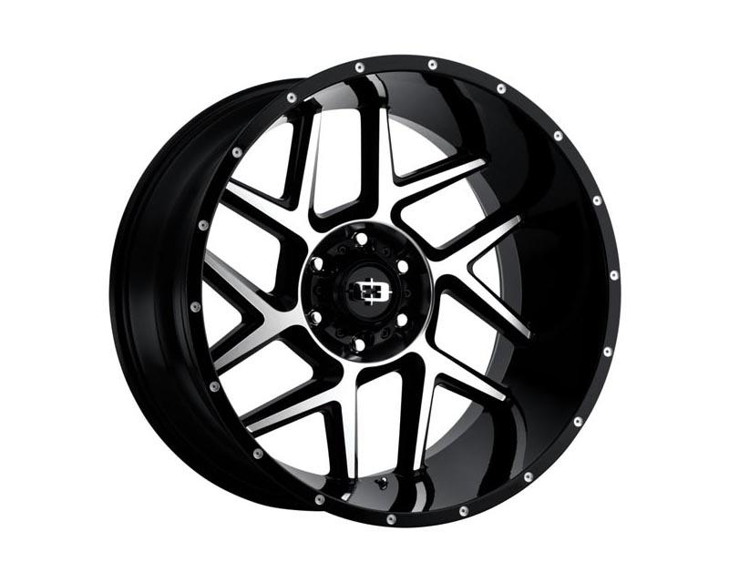 Vision Wheels 360-20036GBMF-25 Sliver Wheel 20x10 6x1350x25 BKGLMS Gloss Black Machined Face