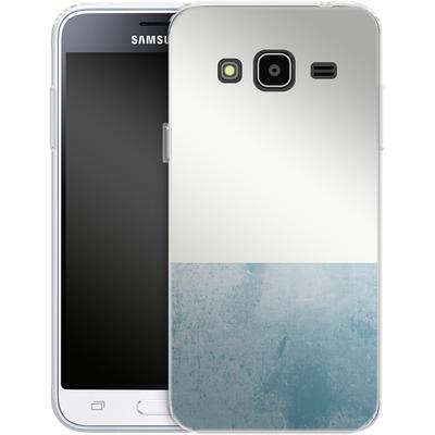 Samsung Galaxy J3 (2016) Silikon Handyhuelle - Colour Block Blue von caseable Designs