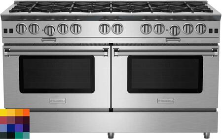 BSP6010BCC 60 Platinum Series Freestanding Range with Ten Burners  Interchangeable Griddle Charbroiler  Full Motion Grates  Efficient PowR Oven and