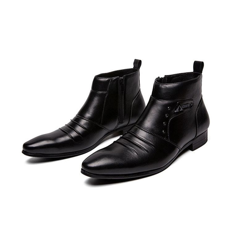 Ericdress Color Block High-Cut Upper PU Men's Boots
