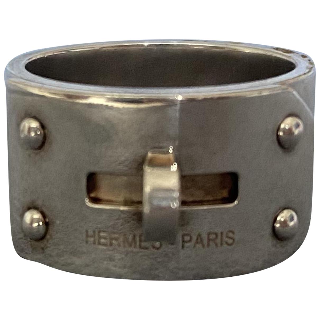 Hermes - Bague Kelly pour femme en argent - argente