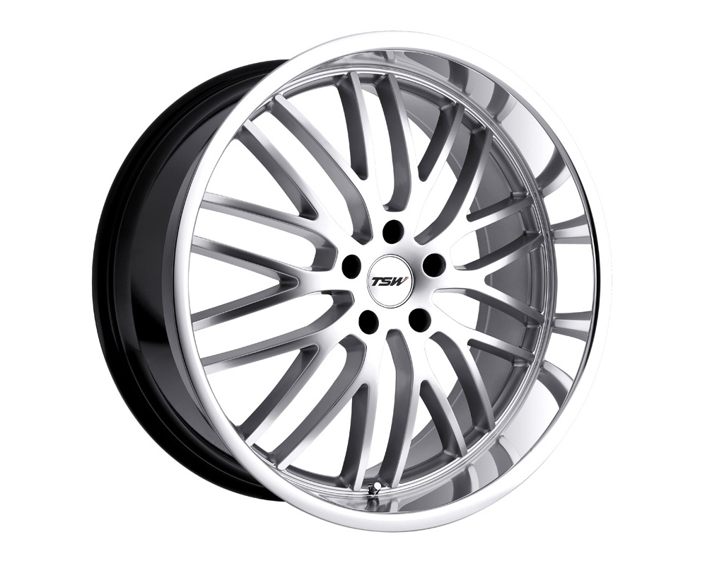 TSW Snetterton Wheel 18x8 5x120 20mm Hyper Silver w/ Mirror Cut Lip