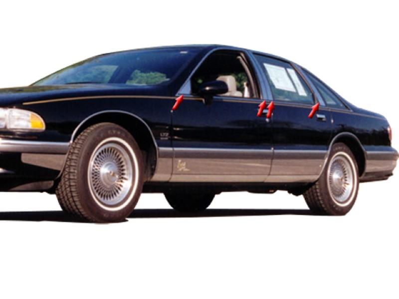 Quality Automotive Accessories 8 Piece Stainless Pillar Post Trim Chevrolet Caprice  91-97