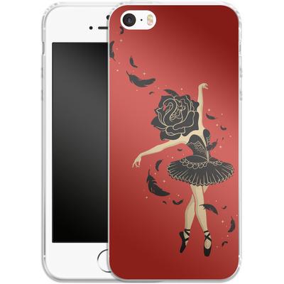 Apple iPhone 5s Silikon Handyhuelle - Black Swan von Enkel Dika