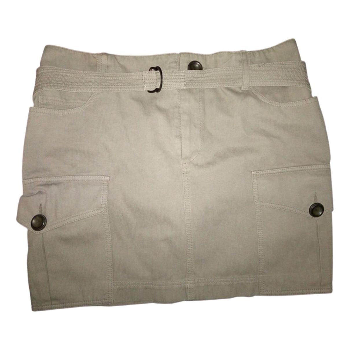 Comptoir Des Cotonniers - Jupe   pour femme en coton - beige