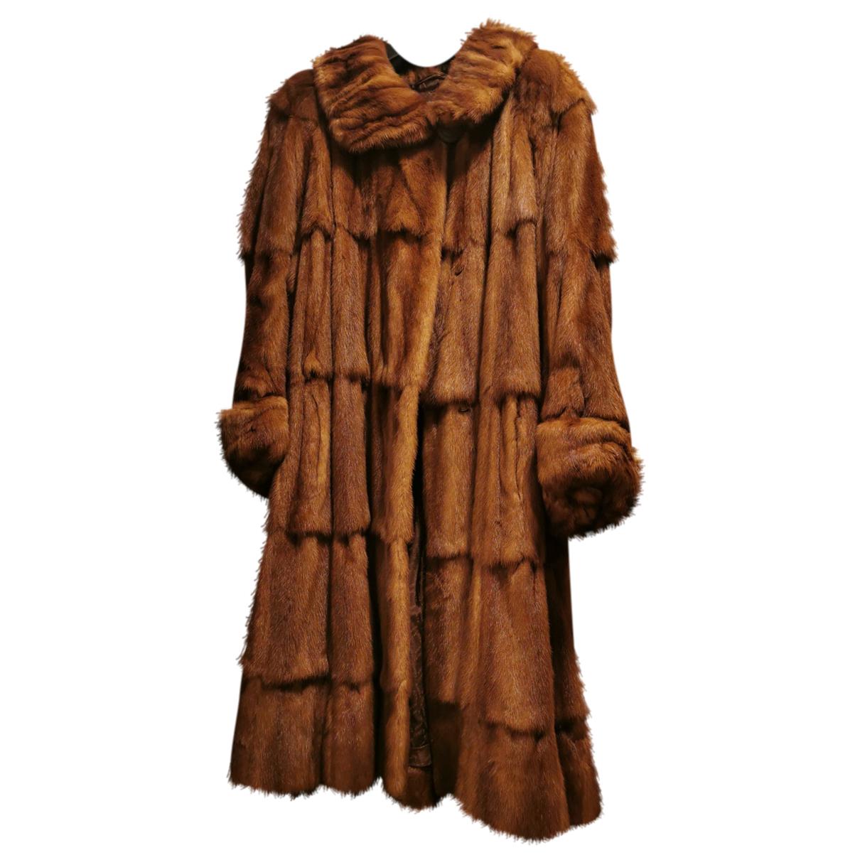 Fendi - Manteau   pour femme en fourrure - marron