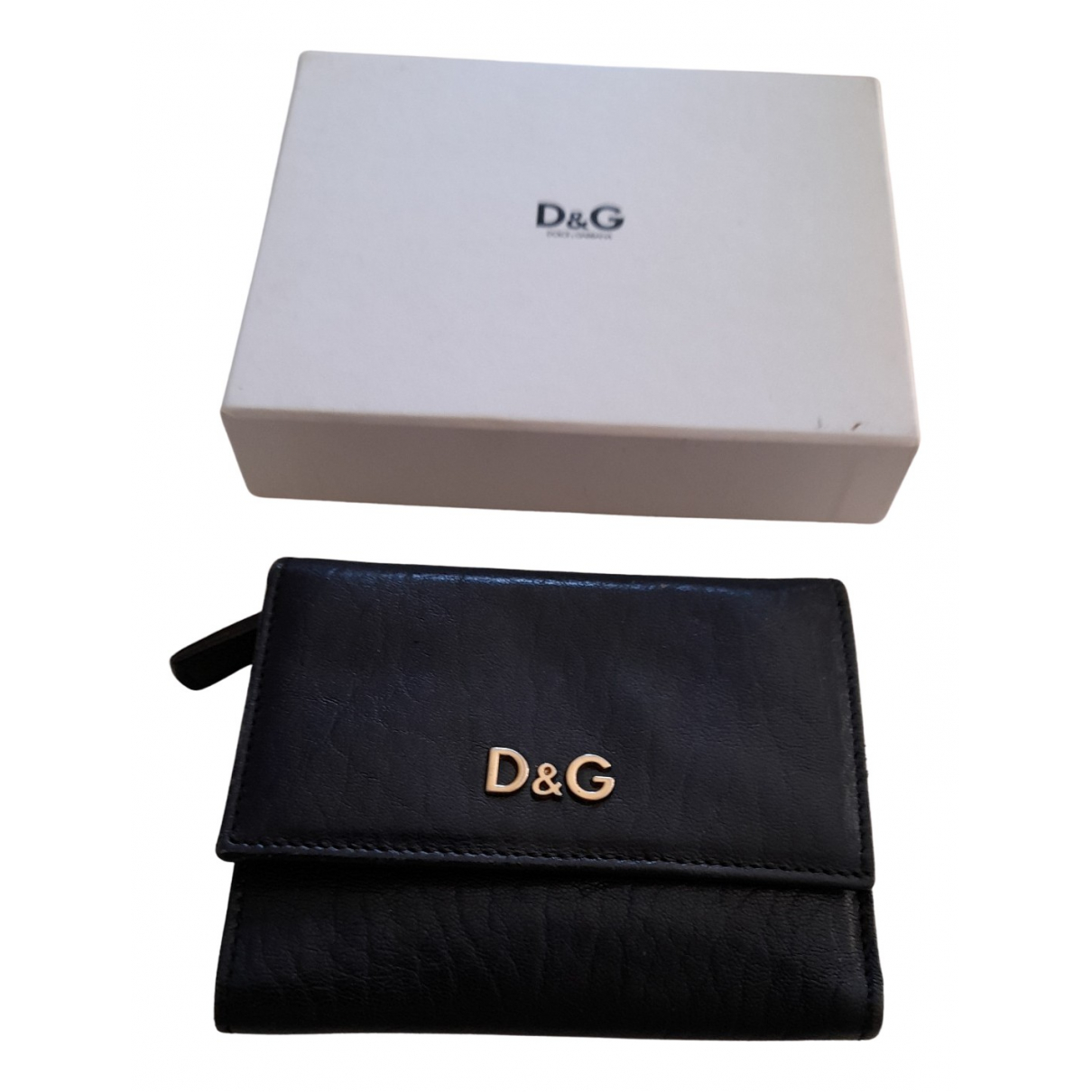 D&g - Portefeuille   pour femme en cuir - bleu