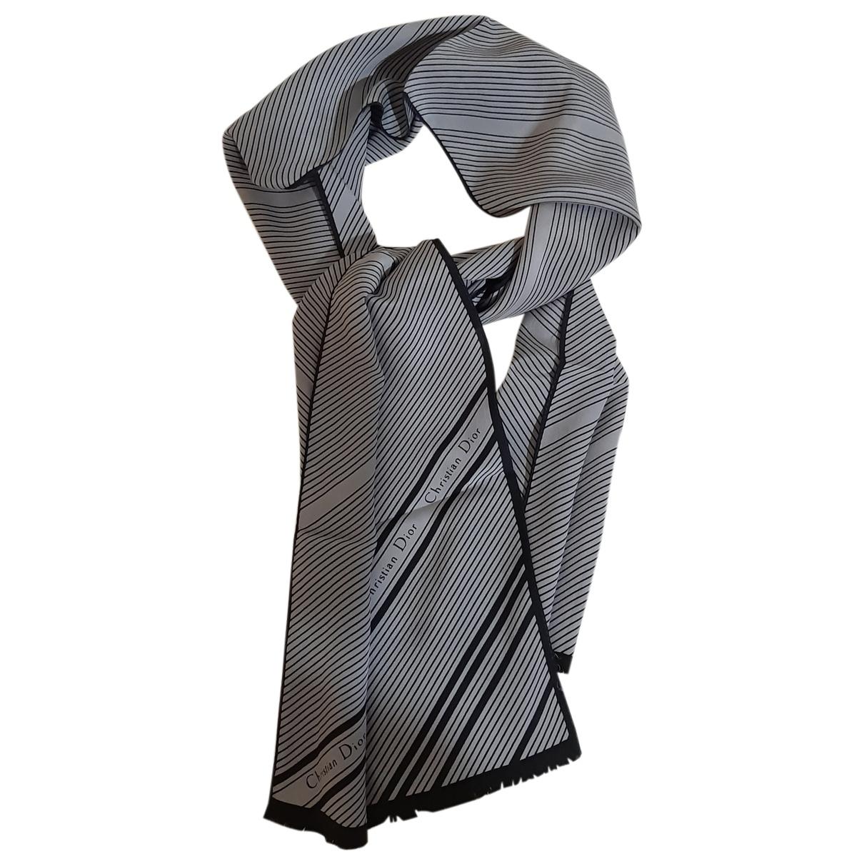 Christian Dior N Grey Silk scarf for Women N
