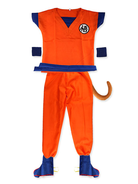 Milanoo Kids Size Dragon Ball Goku Halloween Cosplay Costume