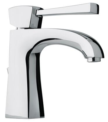 11211-85 Single Lever Handle Lavatory Faucet With Arched Spout Brushed Chrome