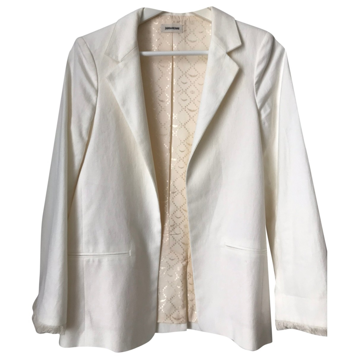 Zadig & Voltaire \N White Cotton jacket for Women 36 FR