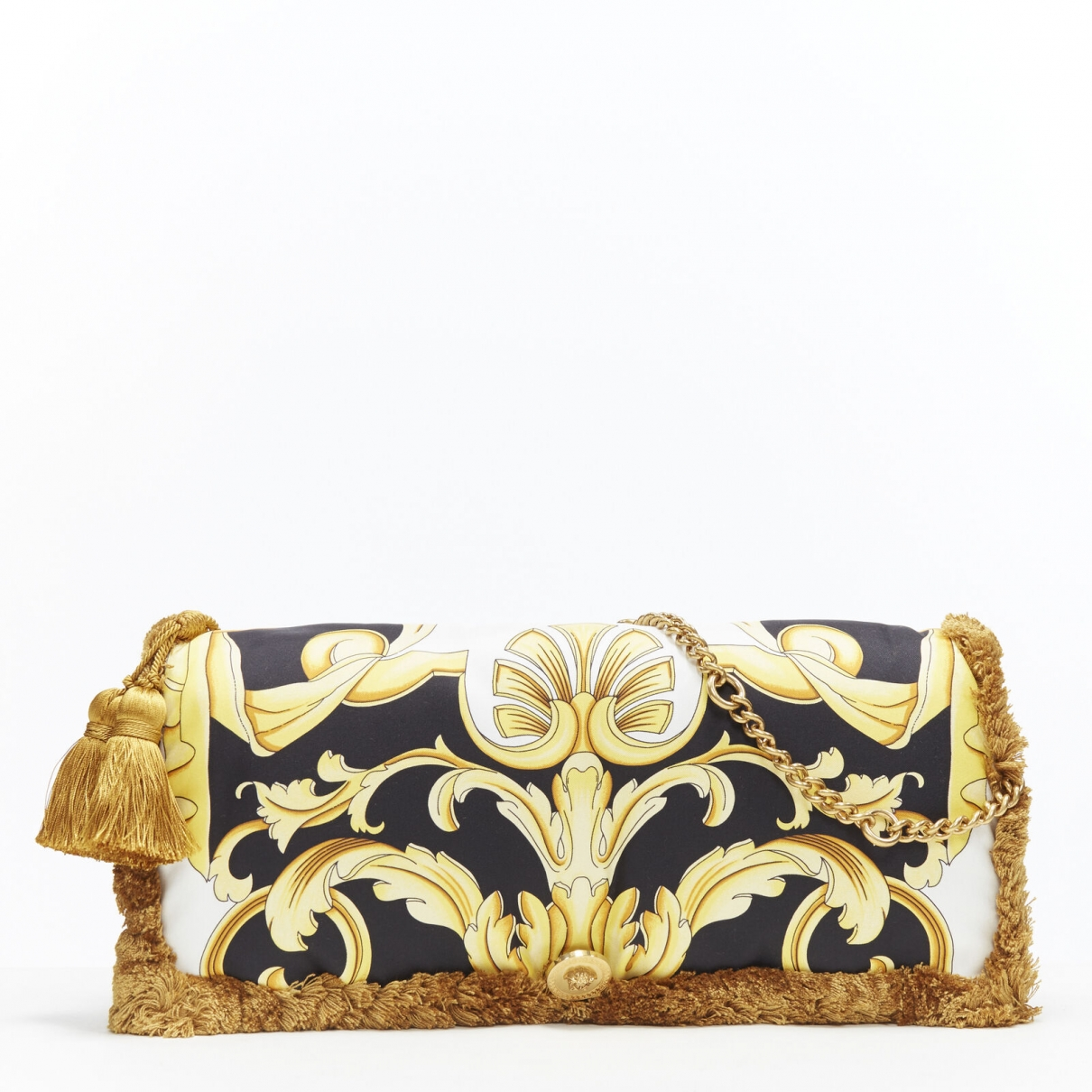 Versace \N Handtasche in  Gold Seide