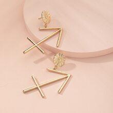 Metallic Constellation Drop Earrings