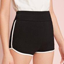 Maedchen Shorts mit weitem Tailleband