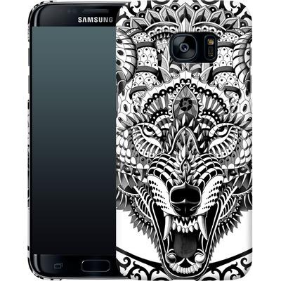 Samsung Galaxy S7 Edge Smartphone Huelle - Wolf Head von BIOWORKZ