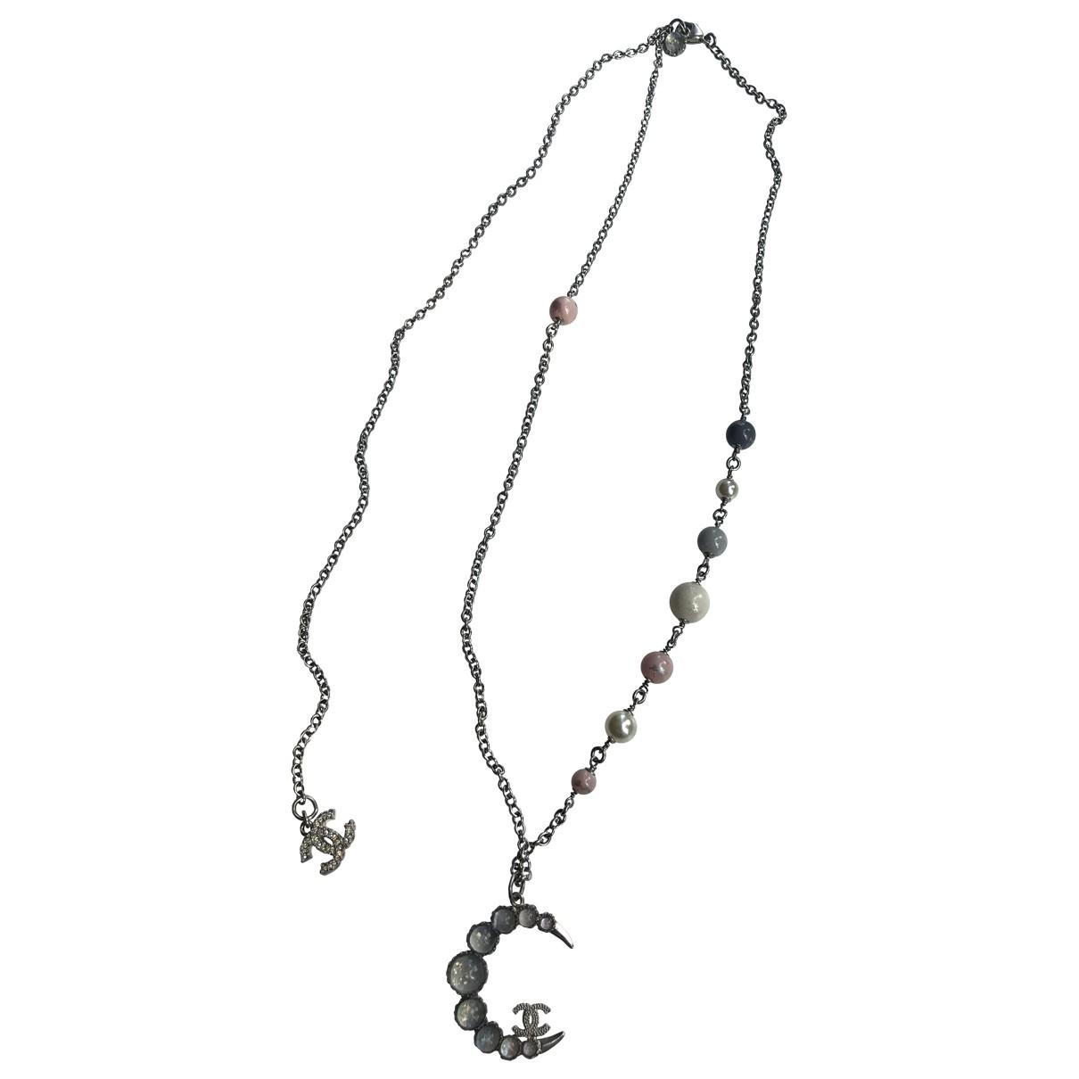 Chanel - Sautoir CC pour femme en perles - argente
