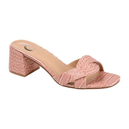 Journee Collection Womens Perette Slide Sandals, 6 1/2 Medium, Pink