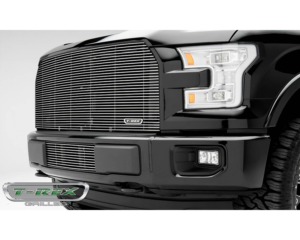 2015-2017 F-150 Billet Grille, Polished, 1 Pc, Replacement - PN #20573