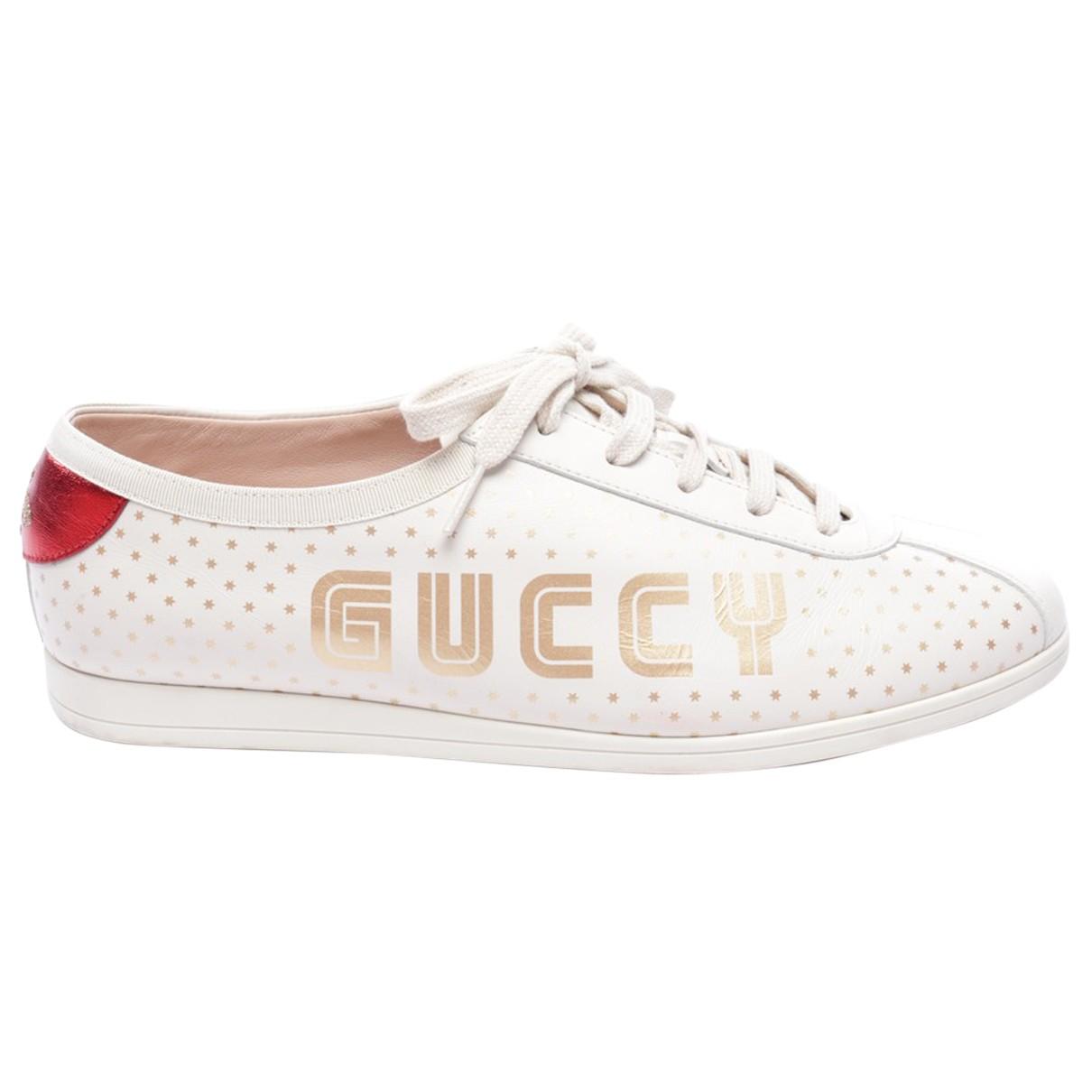 Gucci - Baskets   pour femme en cuir - multicolore